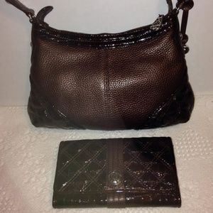 BRIGHTON brown leather purse and wallet set